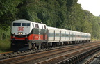 Metro-North Commuter Railroad (MNCR)/CDOT P32AC-DM 231 @ Riverdale (Hudson Line). Photo taken by Brian Weinberg, 9/3/2006.