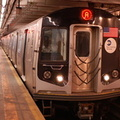 R-160A-2 8653 @ 59 St - Columbus Circle (A). Set is on 4th run of first day of 30-day test. Photo taken by Brian Weinberg, 10/16