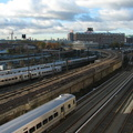 MNCR M-7A 4252 and LIRR M-7 @ Sunnyside. Photo taken by Brian Weinberg, 11/9/2006.