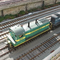 L&I SW1200 9373 and NY&A SW1001 101 @ Sunnyside. Photo taken by Brian Weinberg, 11/9/2006.