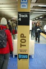 Bravo Top Design set @ Grand Central - 42 St (S). Photo taken by Brian Weinberg, 1/29/2007.