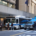 MTA NYCT Bus Orion VII 6749 @ Vanderbilt Avenue and 44th Street (Grand Central Terminal) as part of a display in an Earth Day fa