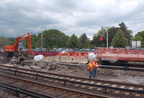 Platform reconstruction @ Dobbs Ferry (MNCR Hudson Line). Photo taken by Brian Weinberg, 5/17/2007.