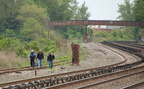 Fishermen walking the tracks @ Riverdale (Hudson Line). Photo taken by Brian Weinberg, 5/20/2007.