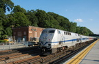 Metro-North Railroad P32AC-DM 218 @ Riverdale (Hudson Line). Photo taken by Brian Weinberg, 6/24/2007.