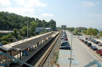 Ossining Metro-North station (Hudson Line). Looking south. Photo taken by Brian Weinberg, 7/27/2007.