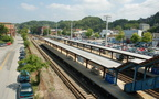 Ossining Metro-North station (Hudson Line). Looking north. Photo taken by Brian Weinberg, 7/27/2007.