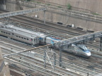 NJT Arrow III 1365 and Amtrak Acela 2032 @ Penn Station. Photo taken by Brian Weinberg, 8/17/2007.