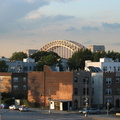 Hell Gate Bridge as seen from Astoria Blvd (N/W). Photo taken by Brian Weinberg, 8/27/2007.