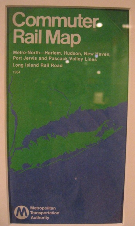 MTA Commuter Rail Map - 1984 - cover