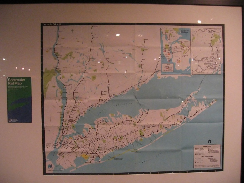 MTA Commuter Rail Map - 1984 - inside