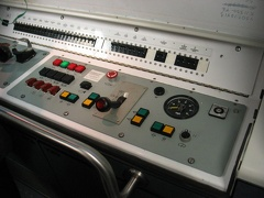 Then he opened up the manual operation control stand. Note that the maximum possible speed that can indicated on the dial is 60M