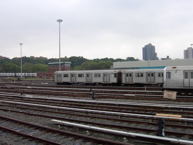 Jamaica Yard, as seen from the MOD train. Photo taken by Brian Weinberg, 6/8/2003.