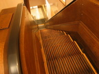 Escalator 87 @ Macy's. This one has wooden sides and wooden steps. Photo taken by Brian Weinberg, 1/11/2004.