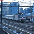 NJT ALP44 4410 @ Harrison, NJ, after sunrise on a cloudy day. Photo taken by Brian Weinberg, 2/18/2004.