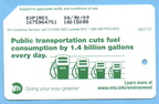 2008 Green MetroCard - Public Transportation Cuts Fuel Consumption