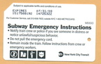 Subway Emergency Instructions (English)