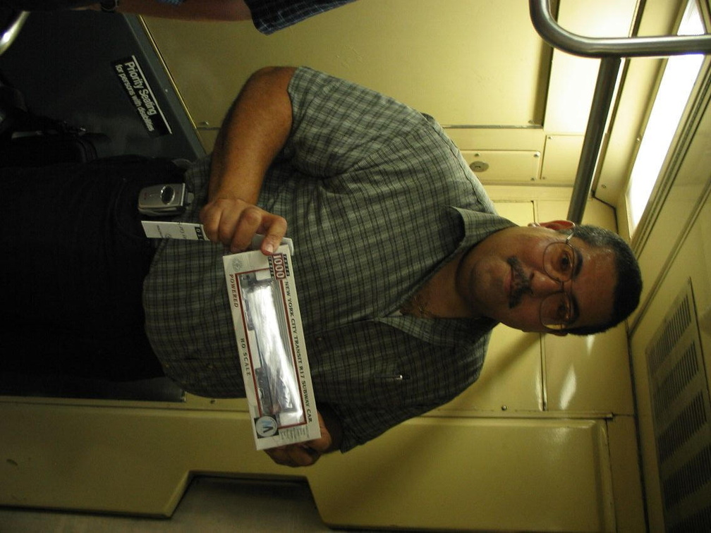BMTman showing off Mark W's new Proto 1000 powered R-17 HO subway car model