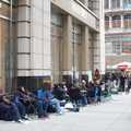People camped out in line days in advance outside of Best Buy in order to be first to purchase a PlayStation 3. Photo taken by B