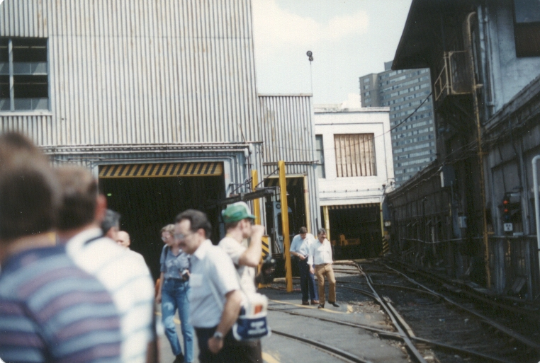 H&M/PATH Henderson Yard during a fan trip. Photo taken by John Lung, July 1988.