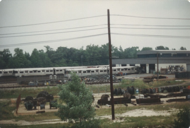 PATCO maintenance shops as seen during a fan trip. Photo taken by John Lung, July 1988.