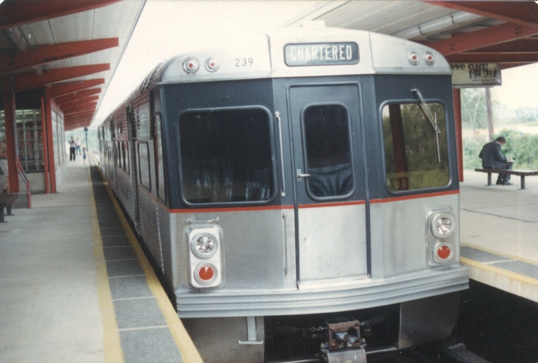 PATCO 239 @ Woodcrest during a fan trip (Charter). Photo taken by John Lung, July 1988.