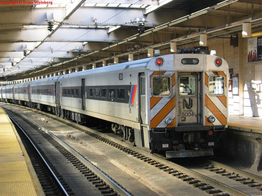 NJT Comet III Cab 5004 @ Newark Penn Station. Photo taken by Brian Weinberg, 2/16/2004.