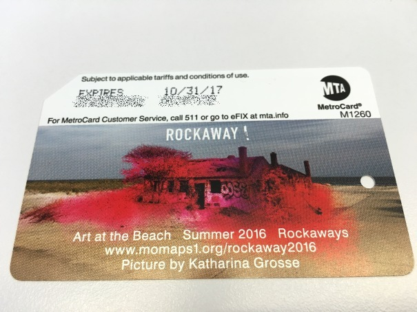 """Rockaway! Art at the Beach"" Metrocard Summer 2016"