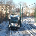 NJT Newark City Subway (NCS) LRV 105A @ Davenport Avenue. Photo taken by Brian Weinberg, 1/15/2006.