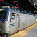 Amtrak AEM7 952 @ Newark Penn Station. Photo taken by Brian Weinberg, 2/16/2004.