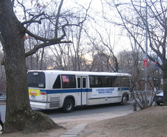 NYCT RTS 8258 @ Henry Hudson Parkway South and 246 St (Bx20). This is one of only two RTS buses left at Kingsbridge Depot. Photo