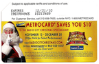 Radio City Christmas Spectacular 2009 Metrocard